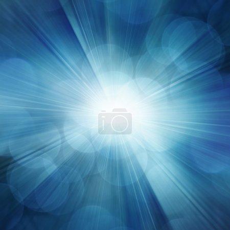 Photo pour Rayons bleus fond abstrait - image libre de droit