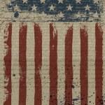 Aged American Patriotic Background. Vector illustr...