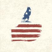 Like shaped american flag Vector EPS10