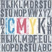 CMYK letterpress poster Vector EPS8