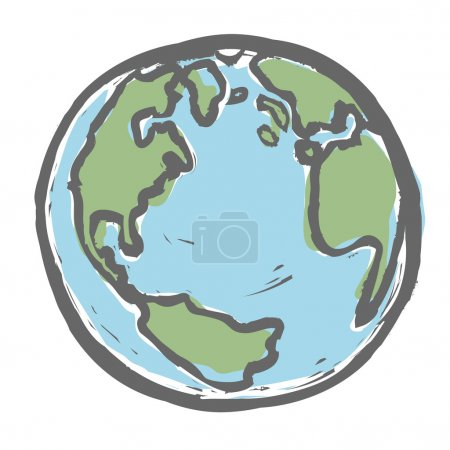 Illustration for Hand drawn earth. Vector, EPS8 - Royalty Free Image