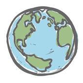 Hand drawn earth Vector EPS8