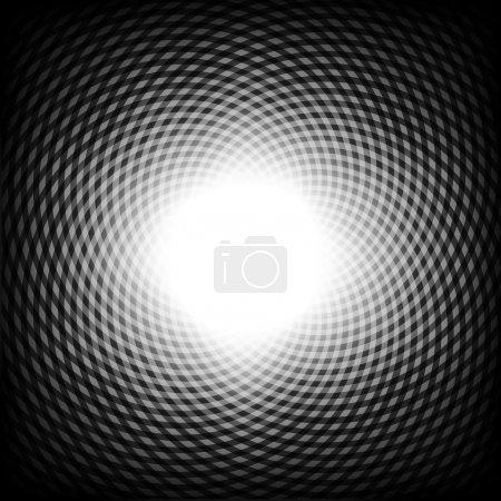 Illustration pour Fond illusion d'optique noir et blanc, vecteur. - image libre de droit