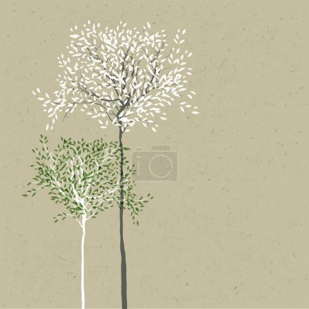 Illustration for Trees background. The trunk and leaves in separate layers. Vector. - Royalty Free Image