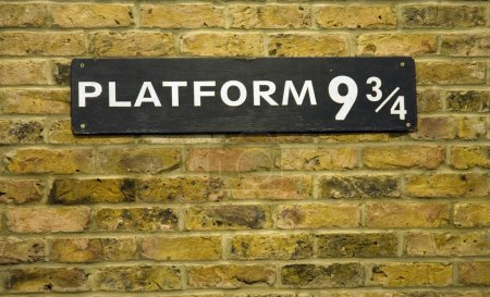 Photo for Close up of the sign at Platform nine and three quarters at Kings Cross Station - Royalty Free Image
