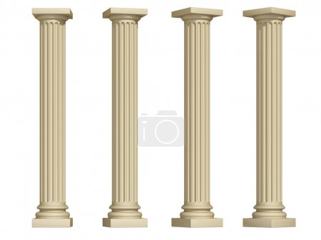Photo for Columns on a white background - Royalty Free Image