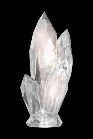 Photo pour Cristal sur fond noir - image libre de droit