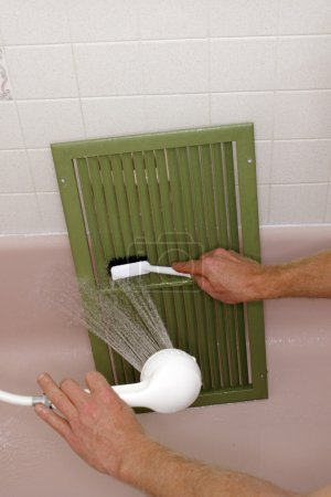 Cleaning an Air Return Vent