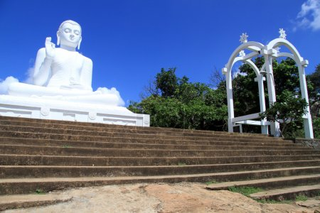 Staircase and Buddha