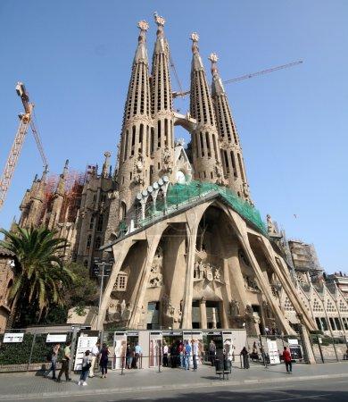 BARCELONA, SPAIN - JULY 19: La Sagrada Familia - t...