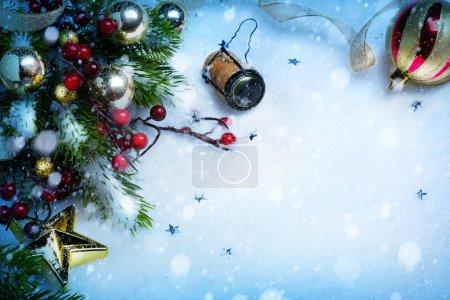 Photo pour Art Noël et nouvel an partie de fond - image libre de droit
