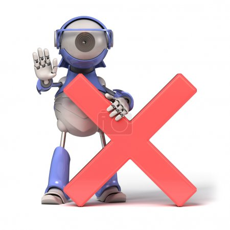 Cancel icon and robot