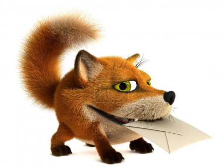 Photo for Fox postman - Royalty Free Image