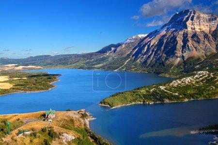 Photo pour Parc national des Lacs-Watertown au Canada à partir de la butte des ours . - image libre de droit