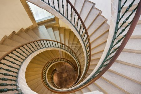 Photo for Prospect of spiral staircases - Royalty Free Image