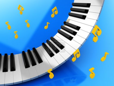 Music keys and notes