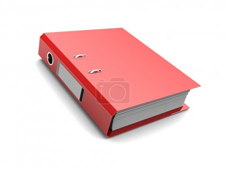 Photo for Red folder with documents inside isolated on white background - Royalty Free Image