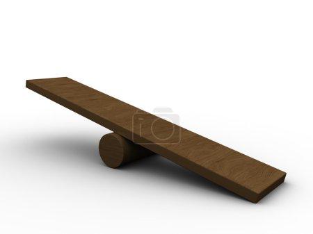 Photo pour Illustration 3d d'une planche à balais vide, sur fond blanc - image libre de droit