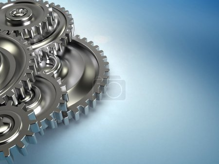 Photo for Abstract 3d illustration of gears background - Royalty Free Image