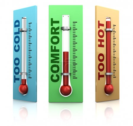 three thermometers