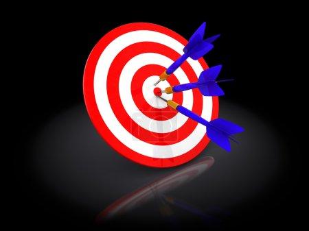 3d illustration of darts
