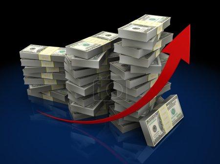 Dollar chart on dark background