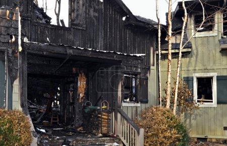 Entrance to a House Destroyed by Fire