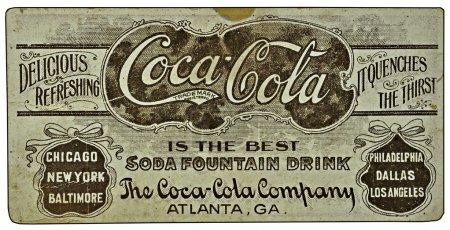Photo pour Une pub Coca-Cola vintage sur une carte . - image libre de droit