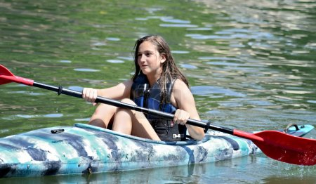 Teen Girl Kayaking