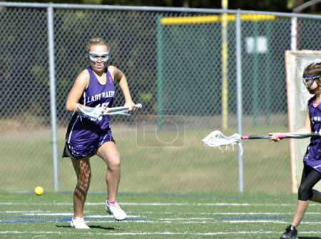 Young Girls Lacrosse Player