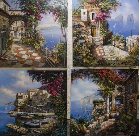 Photo pour Peintures de la rue de Sorrente, Italie - image libre de droit