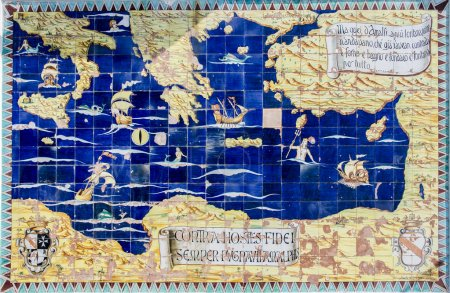 Photo for Ancient map of Mediterranean - Royalty Free Image