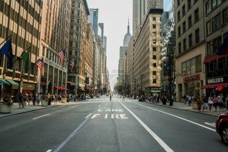 Photo pour Inconnus dans la rue de new york au 13 juillet 2008. at 2010-ville de new york comptait plus de 19 millions. - image libre de droit