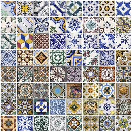 Photo for Traditional tiles from Porto, Portugal - Royalty Free Image