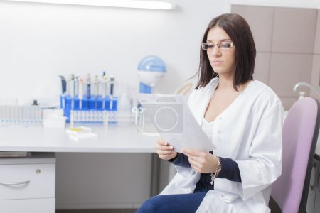 Photo for Young woman in the medical laboratory - Royalty Free Image