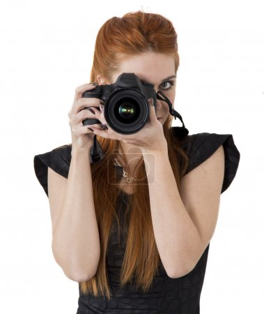 Photo for Young woman taking a photo - Royalty Free Image