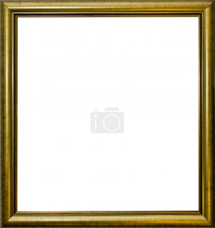 Photo for Antique golden frame with blank space inside - Royalty Free Image