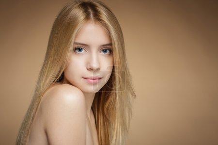 Closeup of tender girl