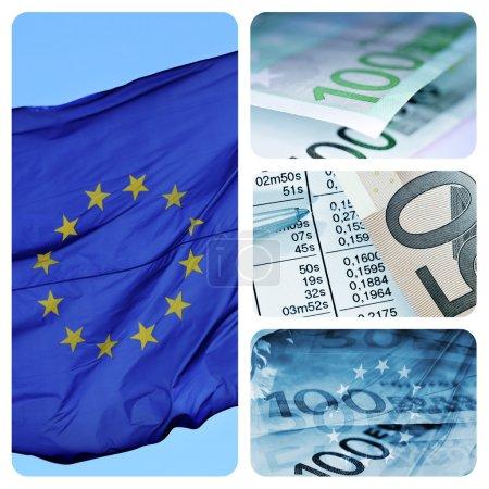 Evropská ekonomika koláž