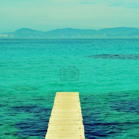 boardwalk in Formentera, Balearic Islands