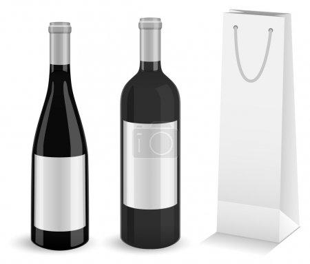 Weinflaschen mit Flasche Geschenktüte