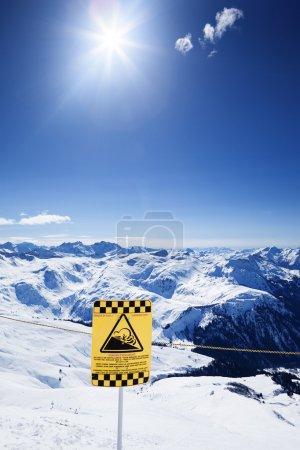 Snow ski resort under the sun