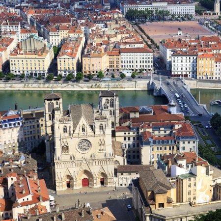 from the top of Notre Dame de Fourviere Basilica