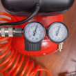 Detail of air compressor with manometer to measure...