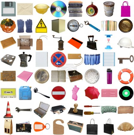 Many object isolated over a white background (all ...