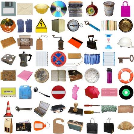 Foto de Muchos objetos aislados sobre un fondo blanco (todas las imágenes en el collage son mías ) - Imagen libre de derechos
