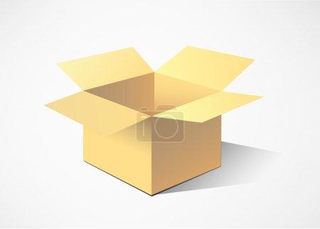 Cardboard boxes. vector illustration