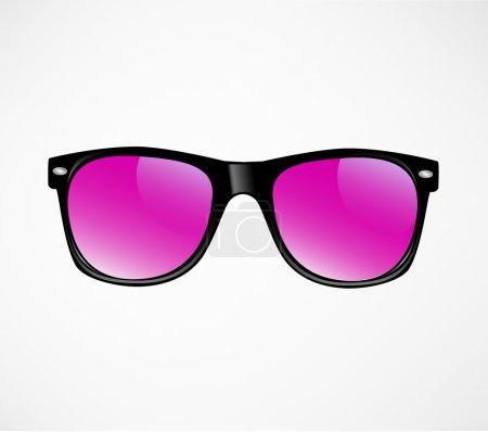 Pink Sunglasses vector illustration background