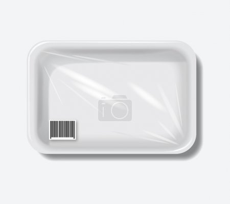 Illustration pour Conteneurs en plastique vides eps10 fond vectoriel - image libre de droit