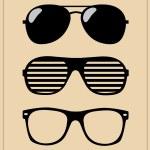 Set of sunglasses. vector background...